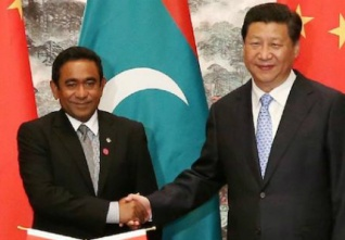 china maldives prezident