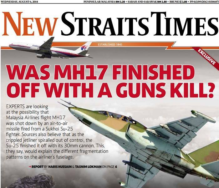MH17 finished off with a gun kill